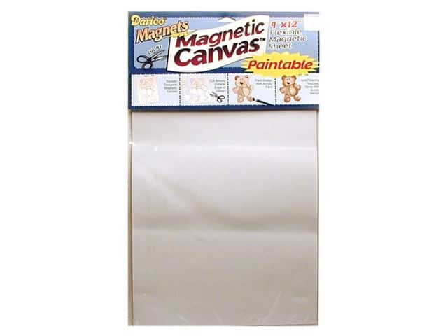 Darice Adhesive Back Magnet Canvas Sheet 9 x 12 in. White