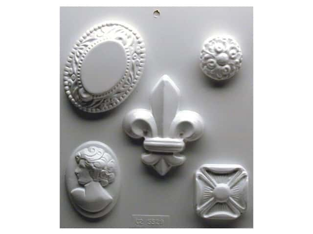Yaley Soapsations Plastic Mold Cameos 5 shapes