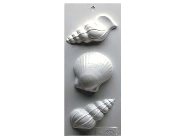 Yaley Soapsations Plastic Mold Sea Shells 3 shapes