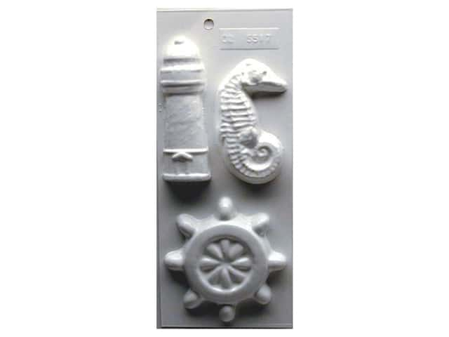 Yaley Soapsations Plastic Soap Molds 4 x 9 in. Nautical