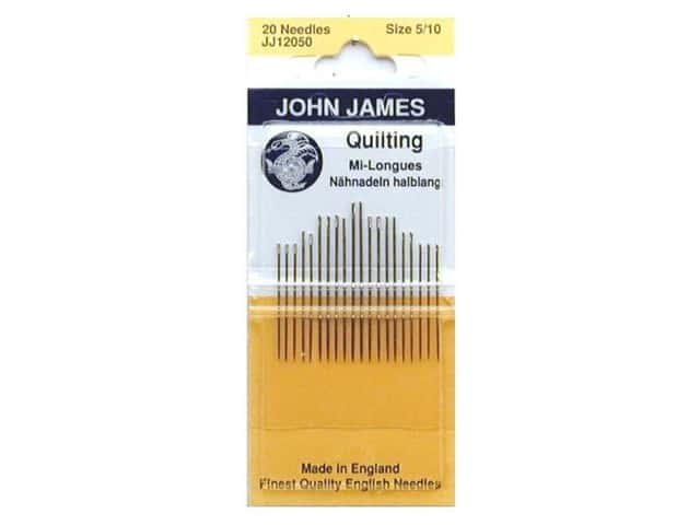 John James Quilting Needles Size 5/10 20 pc.