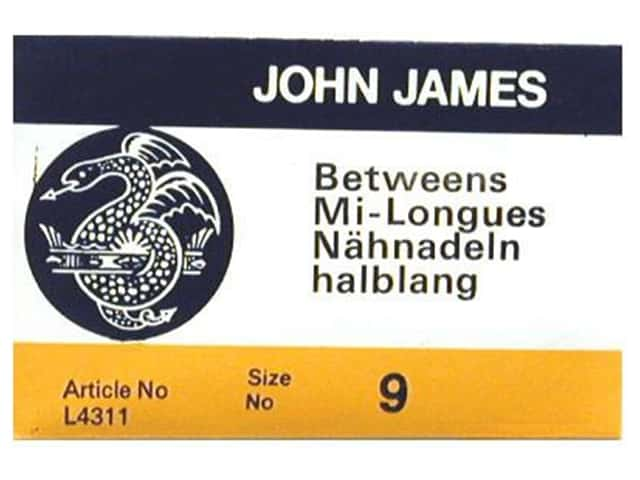 John James Needle Between 25 pc Size 9 (2 packages)