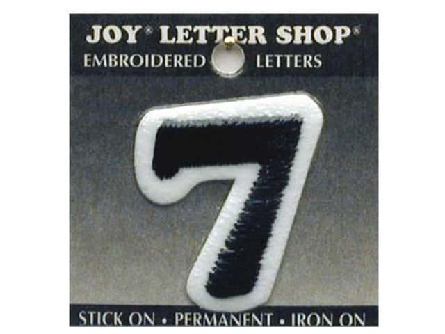 "Joy Lettershop Iron-On Number ""7"" Embroidered 1 1/2 in. Black"