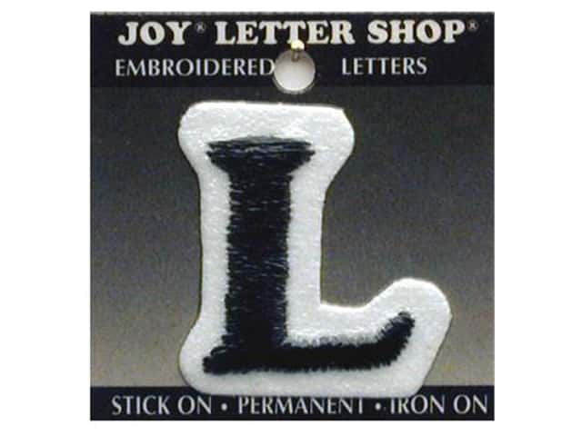 "Joy Lettershop Iron-On Letter ""L"" Embroidered 1 1/2 in. Black"