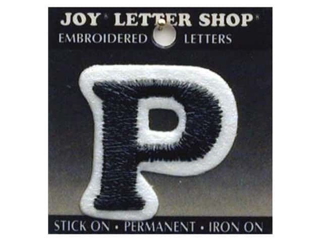 "Joy Lettershop Iron-On Letter ""P"" Embroidered 1 1/2 in. Black"