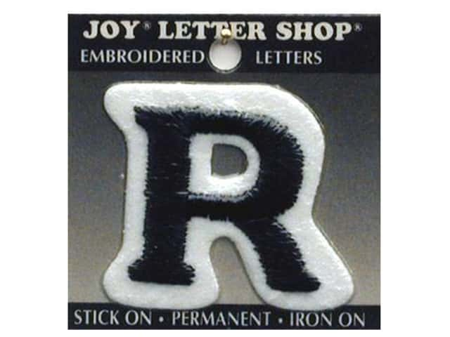 "Joy Lettershop Iron-On Letter ""R"" Embroidered 1 1/2 in. Black"