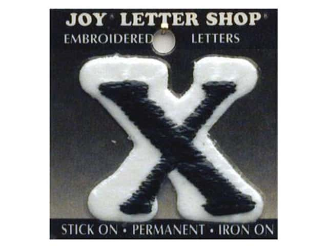 "Joy Lettershop Iron-On Letter ""X"" Embroidered 1 1/2 in. Black"