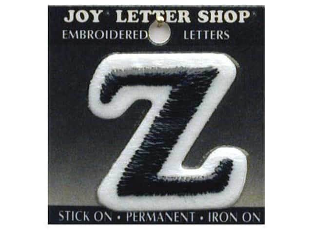 "Joy Lettershop Iron-On Letter ""Z"" Embroidered 1 1/2 in. Black"