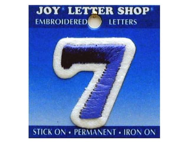 "Joy Lettershop Iron-On Number ""7"" Embroidered 1 1/2 in. Blue"