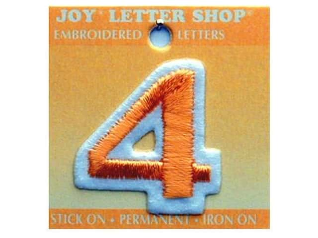 "Joy Lettershop Iron-On Number ""4"" Embroidered 1 1/2 in. Gold"