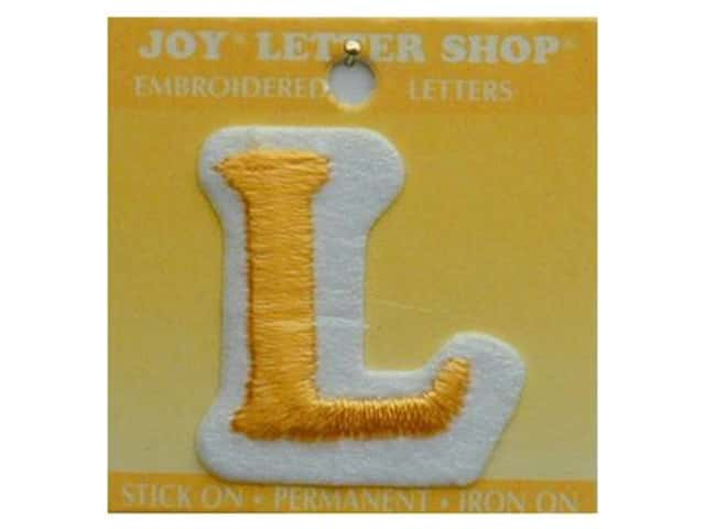 "Joy Lettershop Iron-On Letter ""L"" Embroidered 1 1/2 in. Gold"