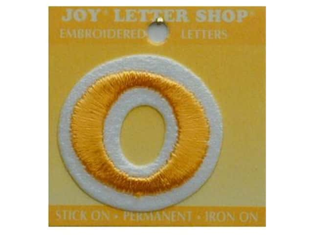 "Joy Lettershop Iron-On Letter ""O"" Embroidered 1 1/2 in. Gold"