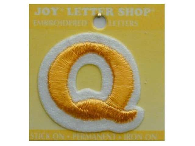 "Joy Lettershop Iron-On Letter ""Q"" Embroidered 1 1/2 in. Gold"