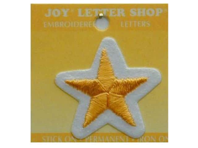 Joy Lettershop Iron-On Star Embroidered 1 1/2 in. Gold