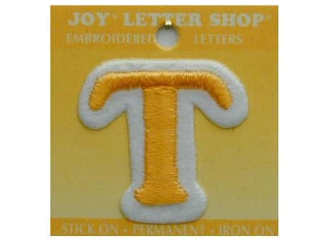 "Joy Lettershop Iron-On Letter ""T"" Embroidered 1 1/2 in. Gold"