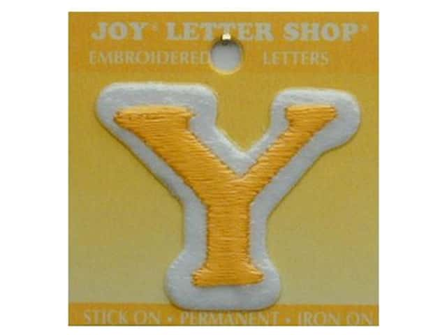 "Joy Lettershop Iron-On Letter ""Y"" Embroidered 1 1/2 in. Gold"