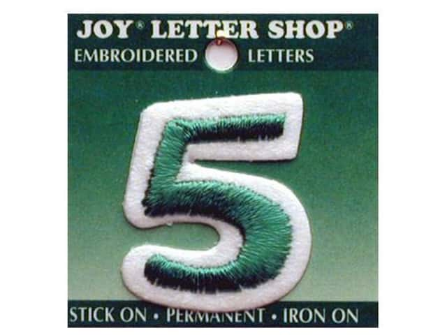 "Joy Lettershop Iron-On Number ""5"" Embroidered 1 1/2 in. Green"
