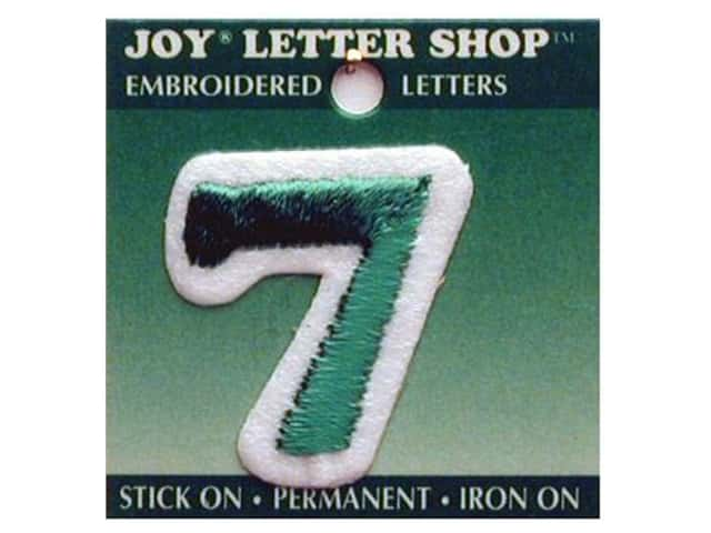 "Joy Lettershop Iron-On Number ""7"" Embroidered 1 1/2 in. Green"