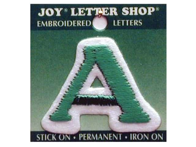 "Joy Lettershop Iron-On Letter ""A"" Embroidered 1 1/2 in. Green"