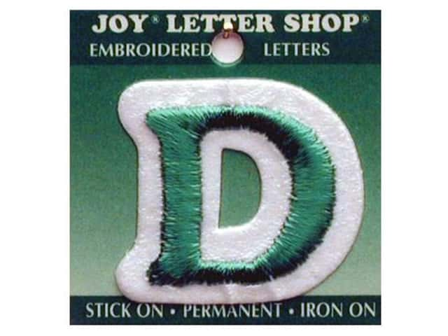 "Joy Lettershop Iron-On Letter ""D"" Embroidered 1 1/2 in. Green"
