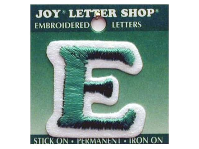 "Joy Lettershop Iron-On Letter ""E"" Embroidered 1 1/2 in. Green"