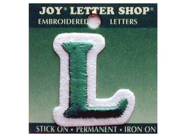 "Joy Lettershop Iron-On Letter ""L"" Embroidered 1 1/2 in. Green"