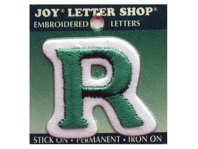 "Joy Lettershop Iron-On Letter ""R"" Embroidered 1 1/2 in. Green"