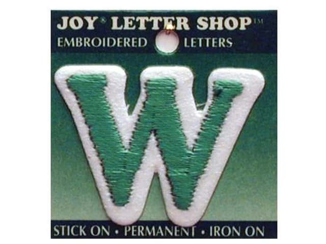 "Joy Lettershop Iron-On Letter ""W"" Embroidered 1 1/2 in. Green"