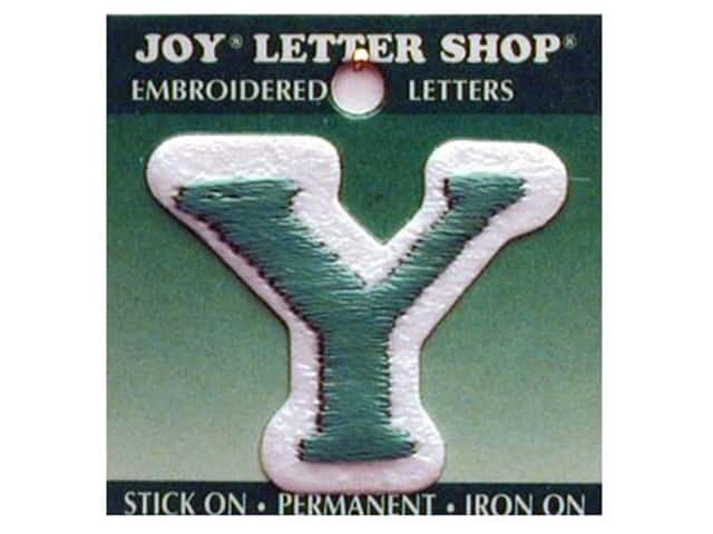 "Joy Lettershop Iron-On Letter ""Y"" Embroidered 1 1/2 in. Green"