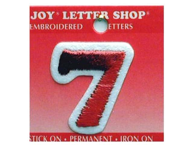 "Joy Lettershop Iron-On Number ""7"" Embroidered 1 1/2 in. Red"