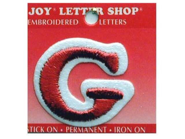 "Joy Lettershop Iron-On Letter ""G"" Embroidered 1 1/2 in. Red"