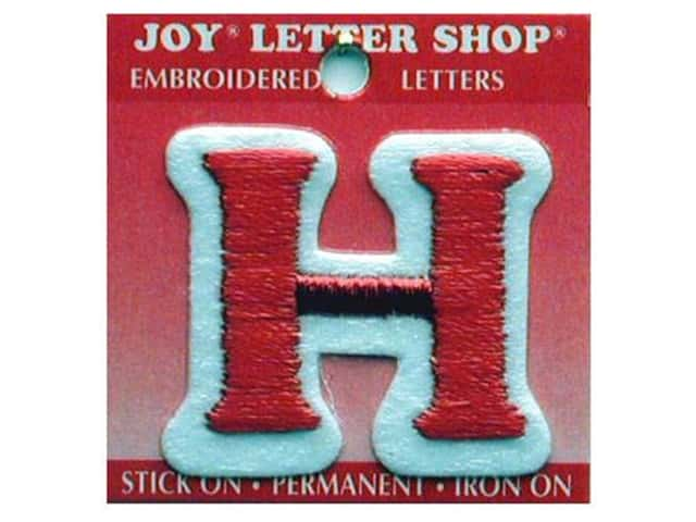 "Joy Lettershop Iron-On Letter ""H"" Embroidered 1 1/2 in. Red"