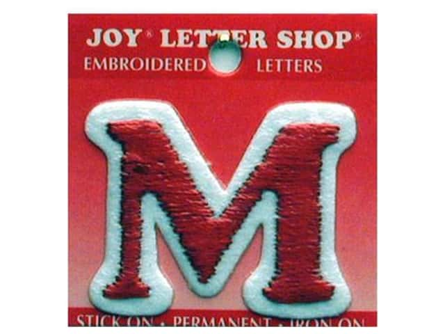 "Joy Lettershop Iron-On Letter ""M"" Embroidered 1 1/2 in. Red"