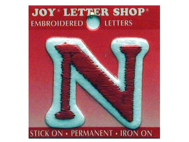 "Joy Lettershop Iron-On Letter ""N"" Embroidered 1 1/2 in. Red"