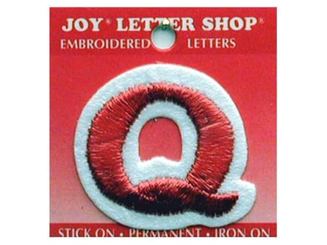 "Joy Lettershop Iron-On Letter ""Q"" Embroidered 1 1/2 in. Red"