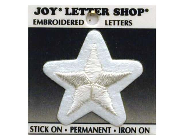 Joy Lettershop Iron-On Star Embroidered 1 1/2 in. White