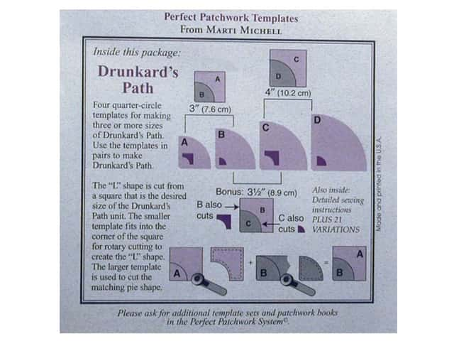 Marti Michell Perfect Patchwork Drunkard's Path Templates