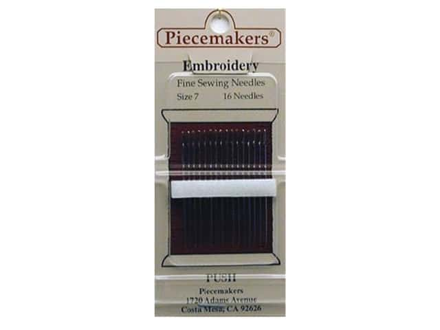 Piecemakers Embroidery Needles Size 7 (3 packages)