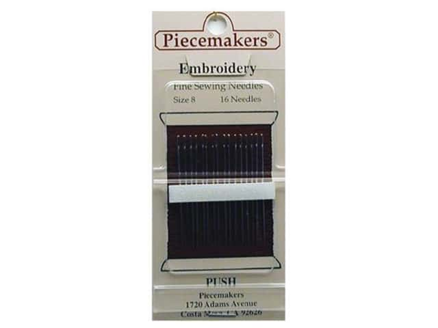 Piecemakers Embroidery Needles Size 8 (3 packages)