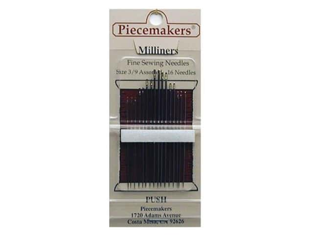 Piecemakers Specialty Needles Milliner's Size 3/9 (3 packages)