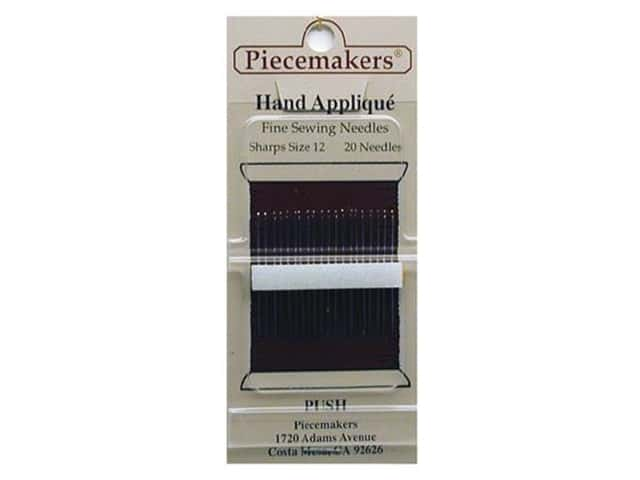 Piecemakers Specialty Needles Hand Applique Sharps Size 12 (3 packages)