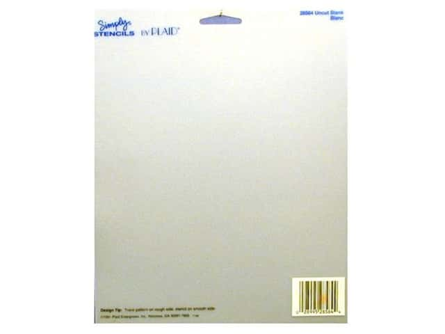 Plaid Simply Stencils 8 x 10 in. Uncut Blank
