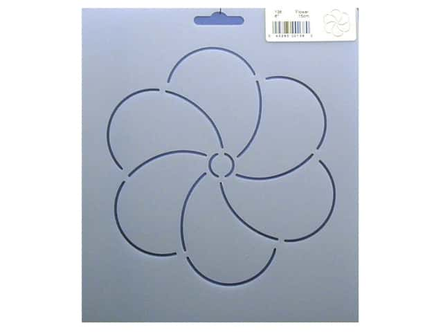 Quilting Creations Stencil Flower 6 in.