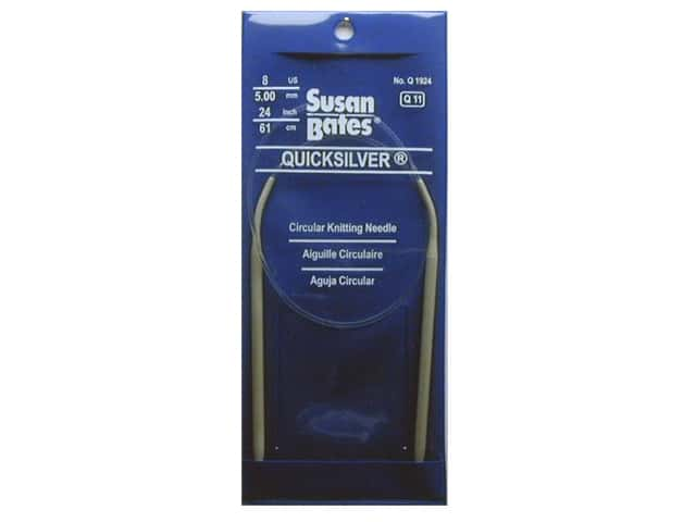 Susan Bates Quicksilver Circular Knitting Needles 24 in. Size 8 (5 mm)