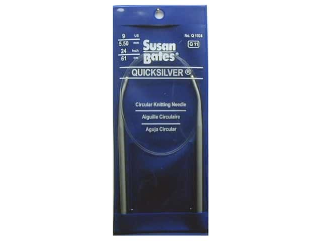Susan Bates Quicksilver Circular Knitting Needles 24 in. Size 9 (5.5 mm)