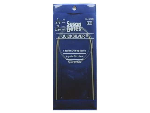 Susan Bates Quicksilver Circular Knitting Needles 29 in. Size 2 (2.75 mm)