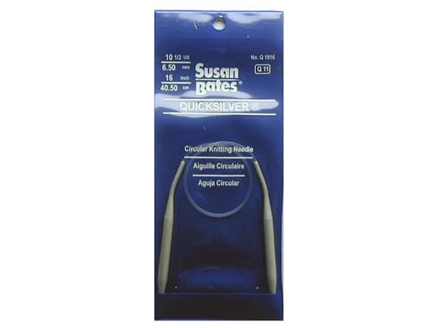 Susan Bates Quicksilver Circular Knitting Needles 16 in. Size 10.5 (6.5 mm)