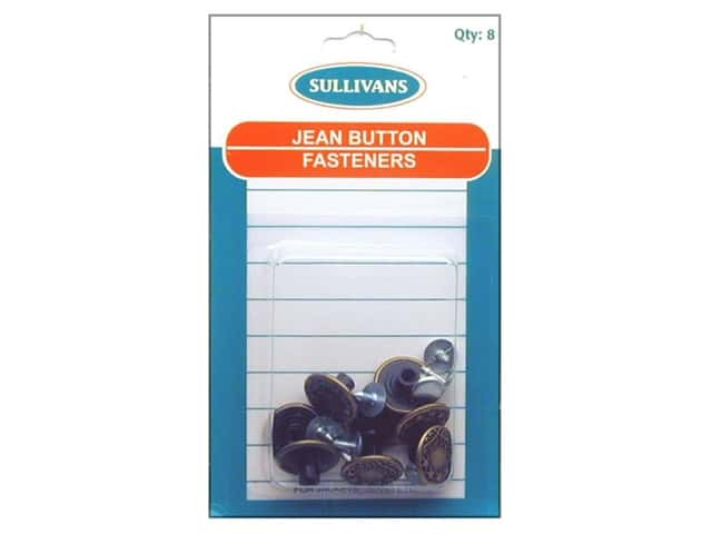 Sullivans Jean Button Fasteners Star with Leaf Design