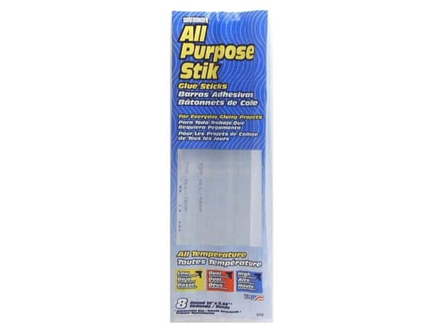 Surebonder MultiTemp Hot Glue Stick Full Size 10 in. 8 pc.