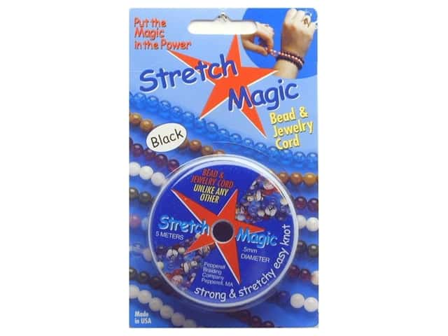 Stretch Magic Beading Cord .5mm x 32.8 ft. Black